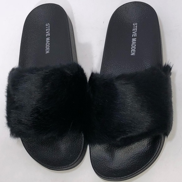 165d2e16e4c Steve Madden Softey Slide Sandal Black SZ 7